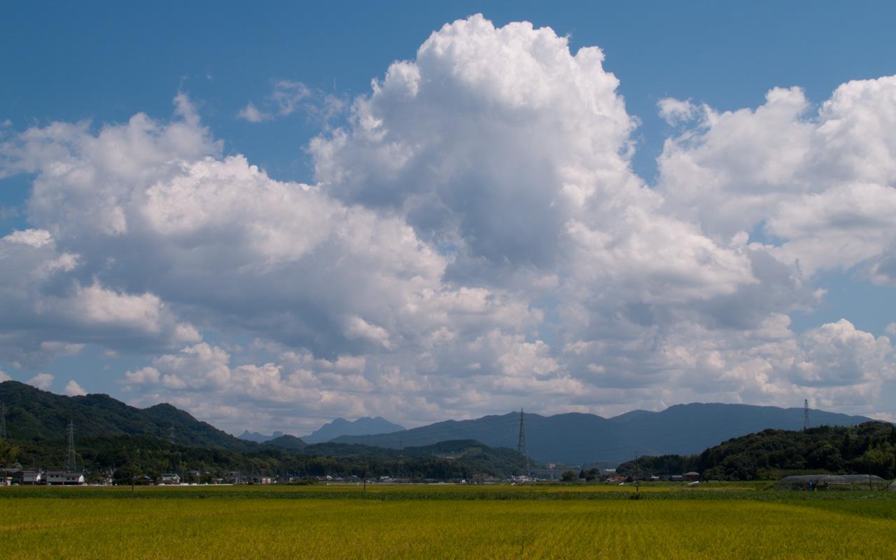 ワイド画面 1280 800 のデスクトップ壁紙 夏の雲 田舎の入道雲